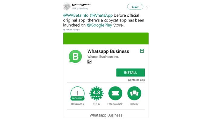 Imagen - Cuidado con los falsos WhatsApp Business: ya hay clones en Google Play