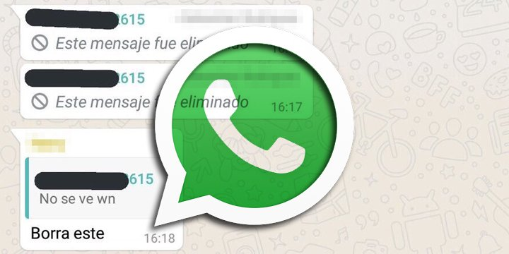 Los mensajes citados en WhatsApp no se pueden eliminar