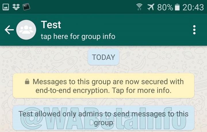 Imagen - WhatsApp permitirá a los administradores de grupos bloquear todas las conversaciones