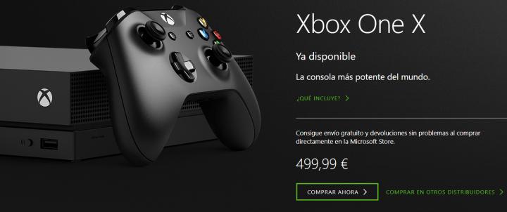 Imagen - Xbox One X ya está a la venta en España