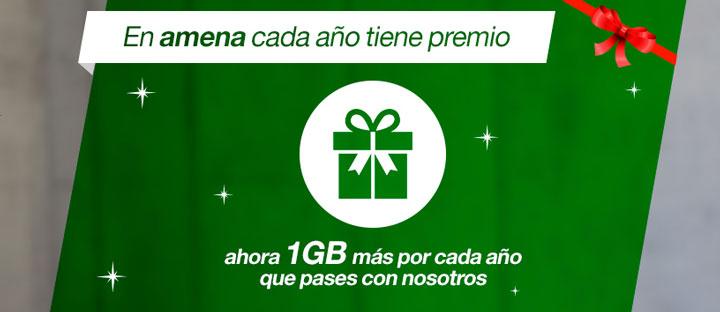 Imagen - Amena ofrecerá 1 GB extra de datos por cada año de antigüedad de los clientes