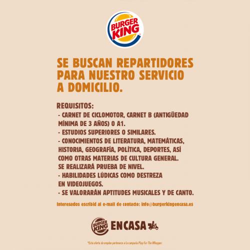 Imagen - La oferta de trabajo de Burger King se vuelve viral