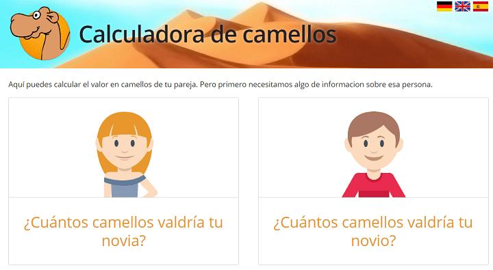 """Imagen - """"¿Cuántos camellos vale tu novia?"""", una calculadora viral rodeada de polémica"""