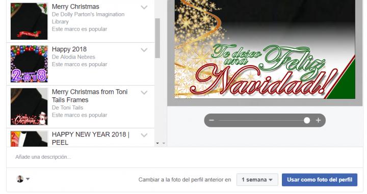 Imagen - Cómo poner un marco navideño a tu foto de perfil de Facebook