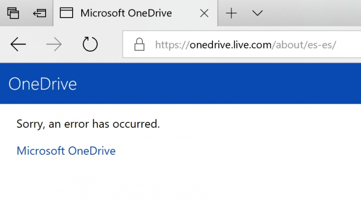 Imagen - OneDrive está caído a nivel mundial