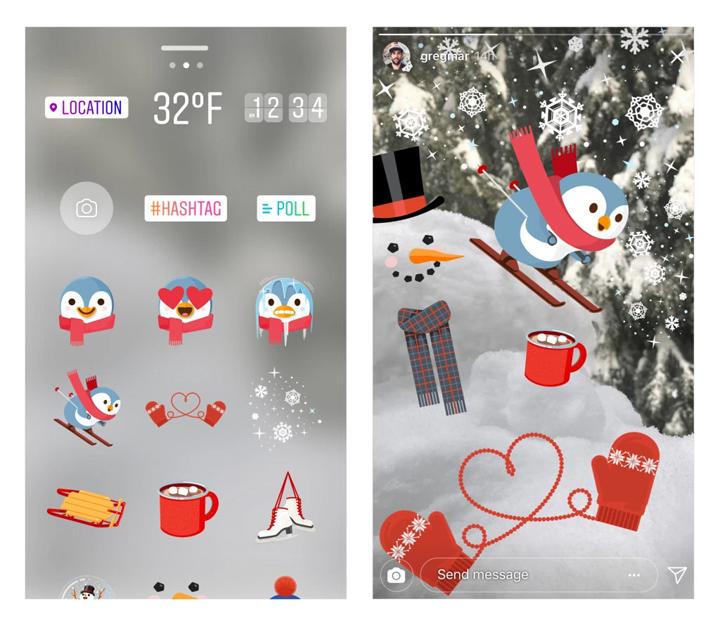 Imagen - Instagram añade nuevos filtros, stickers y efectos de Superzoom por Navidad