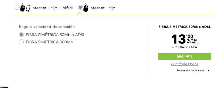 Imagen - MásMóvil sube 3 euros el precio de la fibra
