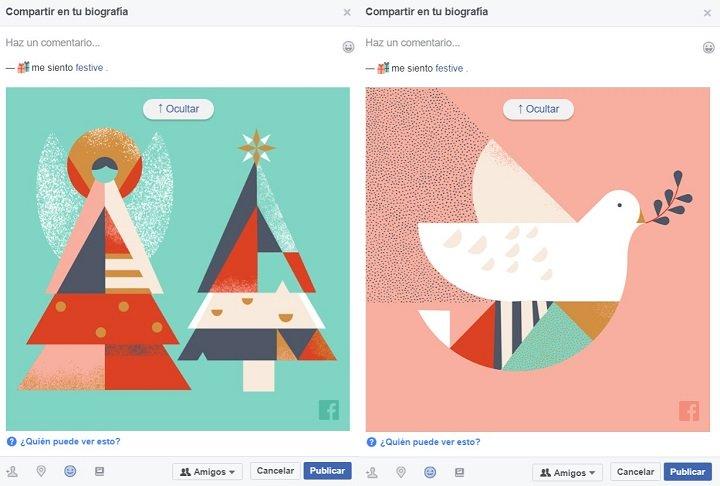Imagen - Cómo felicitar la Navidad en Facebook con tarjetas personalizadas