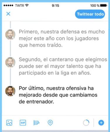 Imagen - Twitter ya permite crear hilos de varios tweets de forma nativa