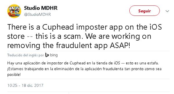 Imagen - Cuidado con Cuphead para iOS: es un juego falso