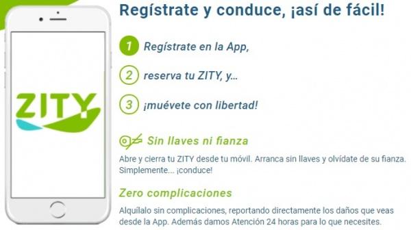 Imagen - Zity llega a Madrid: alquila un coche desde el móvil a 21 céntimos por minuto