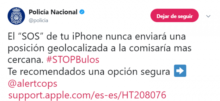 Imagen - Cuidado con el bulo del botón SOS del iPhone que envía tu posición a una comisaría