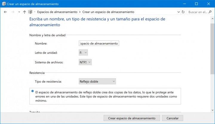 """Imagen - Cómo usar los """"espacios de almacenamiento"""" en Windows 10"""