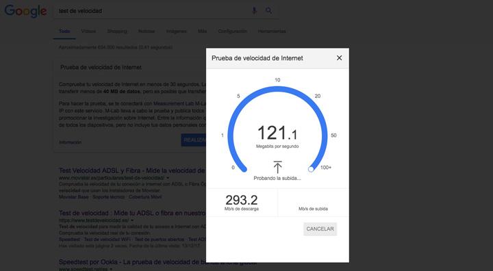 Imagen - Google incluye su test de velocidad en el buscador