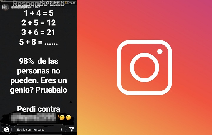 """Imagen - """"98% de las personas no pueden, ¿eres un genio?"""", el problema viral en Instagram"""