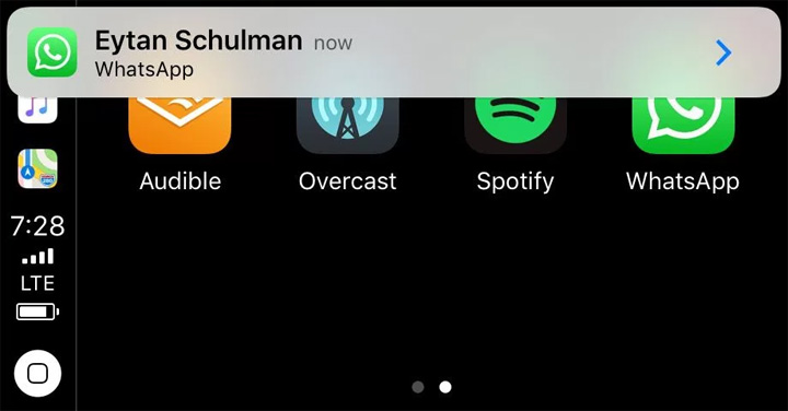 Imagen - WhatsApp llega a Apple CarPlay
