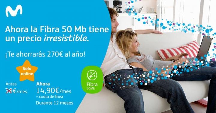 Imagen - Movistar oferta 50 megas de fibra por 32 euros al mes