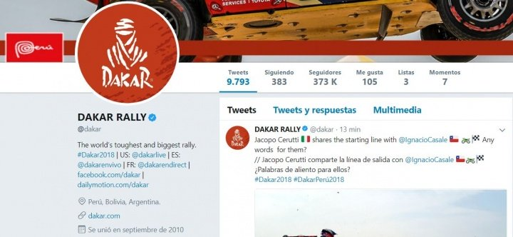 Imagen - Cómo seguir el Rally Dakar 2018 por Internet
