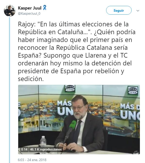 """Imagen - Rajoy se vuelve viral al mencionar la """"República en Cataluña"""""""