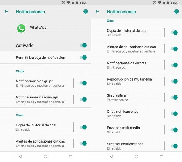 Imagen - WhatsApp ya permite elegir las notificaciones en Android Oreo