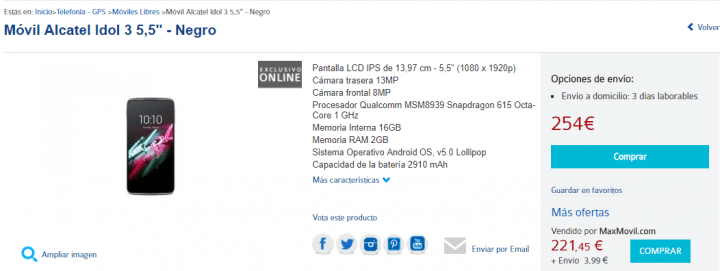 Imagen - Dónde comprar el Alcatel Idol 3
