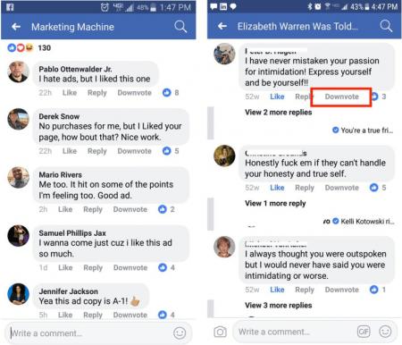 """Imagen - Facebook permitirá hacer """"dislike"""" a los comentarios"""