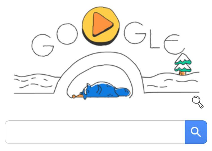 Imagen - Nuevo Doodle en Google: un mapache deportista por los Juegos Olímpicos de Invierno