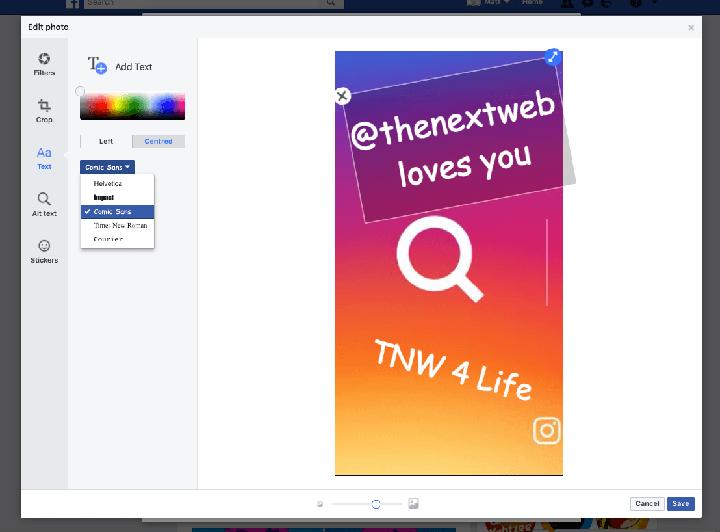 Imagen - Facebook ya permite editar Stories en la versión web