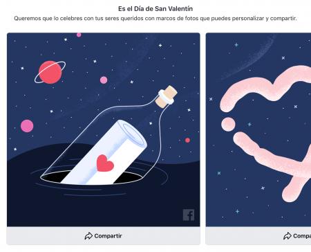 Imagen - Facebook celebra San Valentín con tarjetas de felicitación y marcos para tus fotos