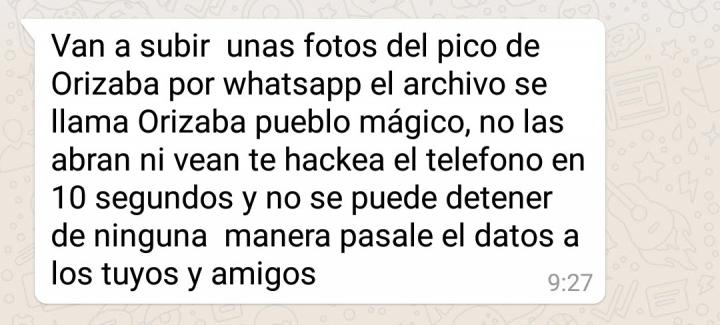 """Imagen - Cuidado con el bulo de las fotos de """"Orizaba pueblo mágico"""" que circula por WhatsApp"""