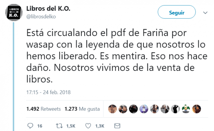 "Imagen - Un PDF con el libro ""Fariña"" se vuelve viral en WhatsApp"