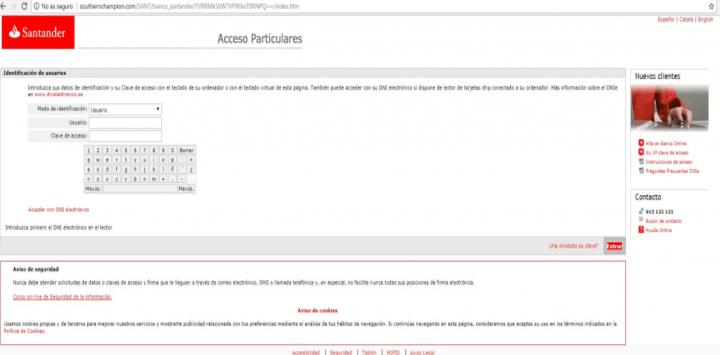 Imagen - Cuidado con el email sobre el bloqueo de tu tarjeta de crédito del Banco Santander