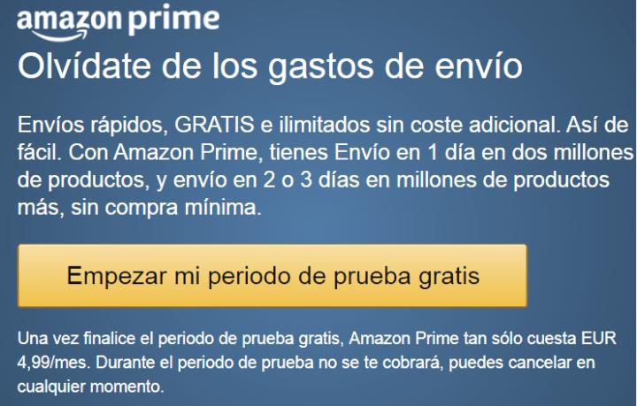 Imagen - Amazon Prime lanza una suscripción por 4,99 euros al mes