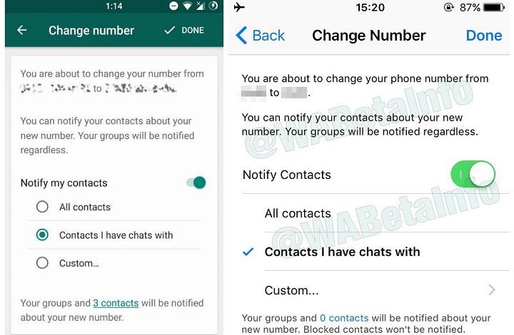 Imagen - WhatsApp beta para Android ya permite avisar a tus contactos al cambiar de número
