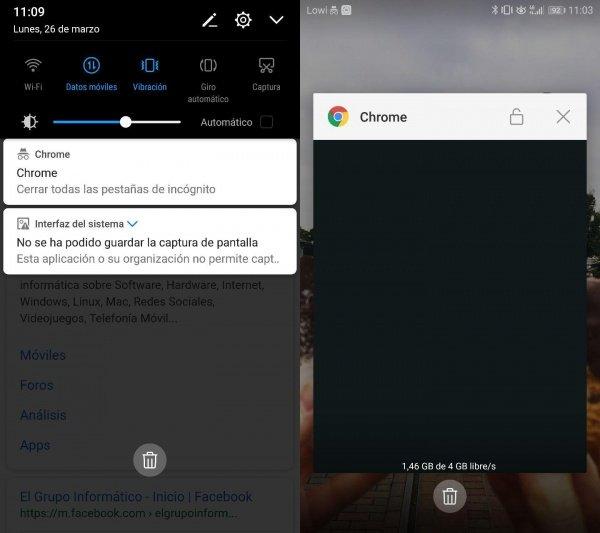Imagen - Chrome 65 ya no deja realizar capturas de pantalla en modo incógnito desde Android