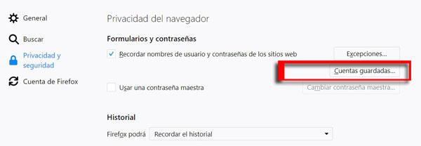 Imagen - Deja de guardar contraseñas en Firefox: es vulnerable
