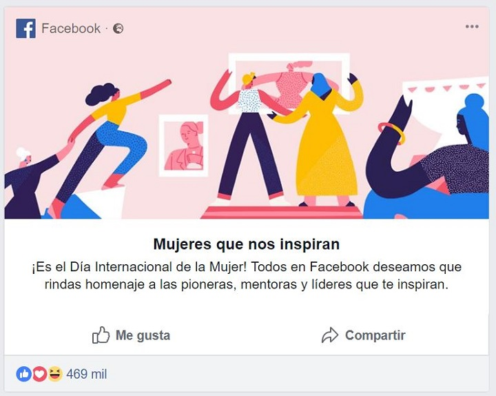 Imagen - Día Internacional de la Mujer en Facebook: comparte una tarjeta o cambia tu foto de perfil