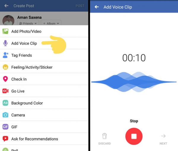 Imagen - Facebook permitirá publicar notas de voz en los estados
