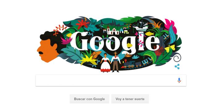 Google dedica su Doodle al escritor Gabriel García Márquez