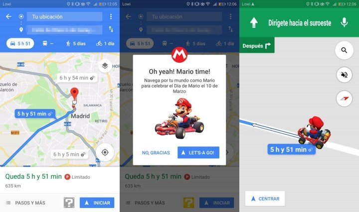 Imagen - Google Maps nos permite jugar a Mario Kart por el Mario Day