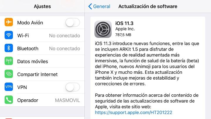 Imagen - iOS 11.3 ya disponible para desactivar la ralentización del iPhone