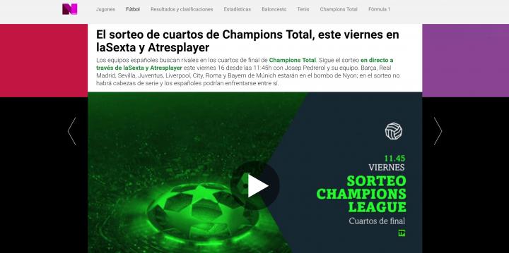 Imagen - Cómo seguir el sorteo de cuartos de final de la Champions League online