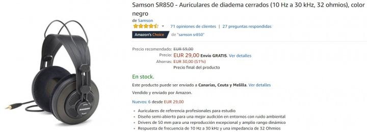 Imagen - Dónde comprar los Samson SR850