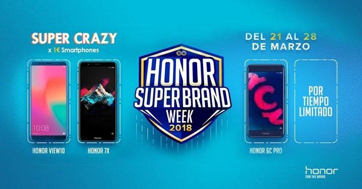 Imagen - Honor venderá móviles por 1 euro en la Super Brand Week hasta el día 28