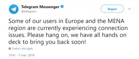 Imagen - Telegram sufre una caída total: no se pueden enviar ni recibir mensajes