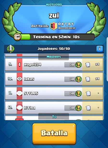 Imagen - Cómo unirte a torneos de Clash Royale