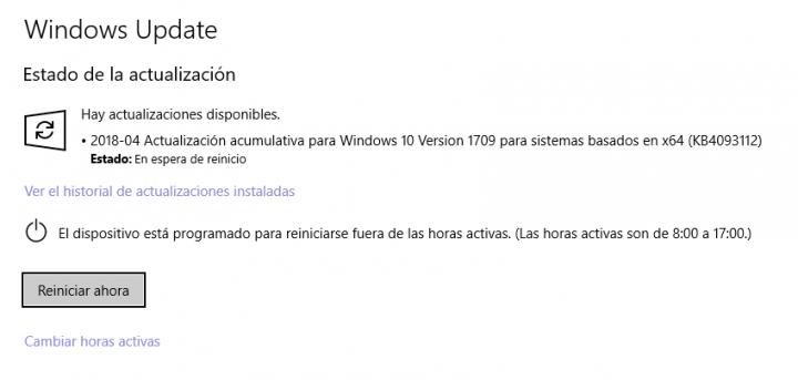 Imagen - La actualización KB4093112 para Windows 10 falla al instalarse