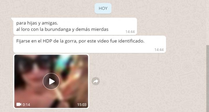 "Imagen - Un mensaje viral pide estar ""al loro con la burundanga"" por WhatsApp"