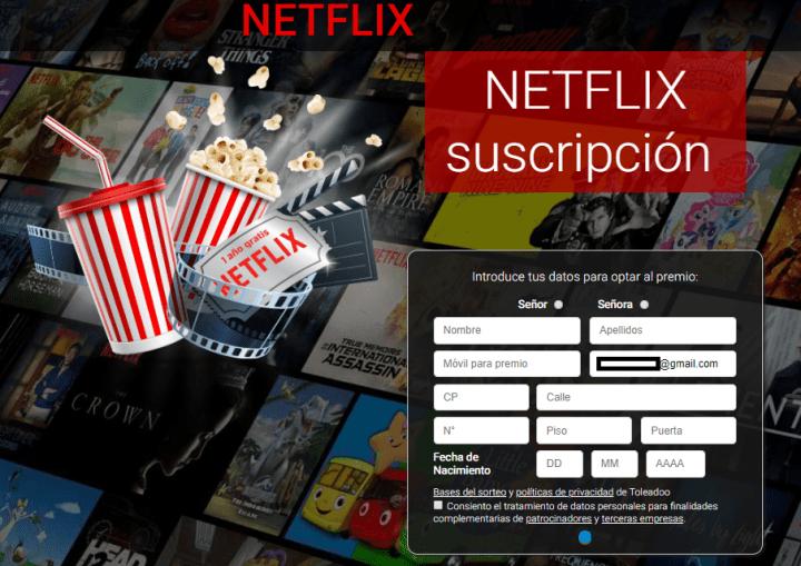 Imagen - Cuidado con Netflix Promo y su regalo de 1 año por 0€ en Facebook