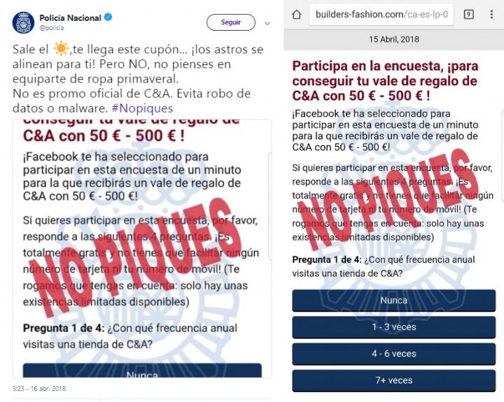 Imagen - C&A no está regalando vales de 500 euros, es una estafa